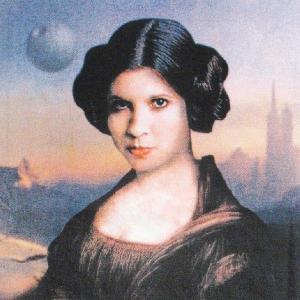 グラフィックTシャツ モナ・リザ?それともレイア姫?「Mona Leia(モナ・レイア)」 おしゃれなSTARWARSパロディーTシャツ|neigh