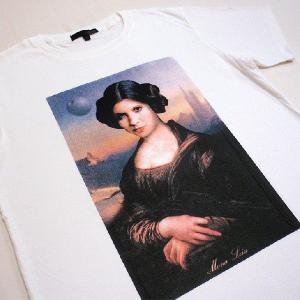 グラフィックTシャツ モナ・リザ?それともレイア姫?「Mona Leia(モナ・レイア)」 おしゃれなSTARWARSパロディーTシャツ|neigh|05