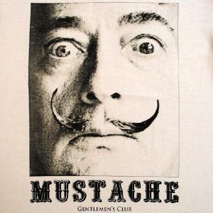 グラフィックTシャツ ダリってよりもヒゲのインパクト「MUSTACHE(ムスターシュ/口ひげ)」 おしゃれなアーティストTシャツ|neigh