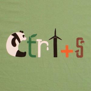 ナチュラルTシャツ エコライフはすべての自然生命を守る近道!「Ctrl+S」 ナチュラルなデザインTシャツ|neigh