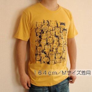 ニャンコTシャツ ネコがいっぱいのかわいいデザインが女の子に人気!「ニャンコまみれ」 ナチュラルなデザインTシャツ|neigh|04