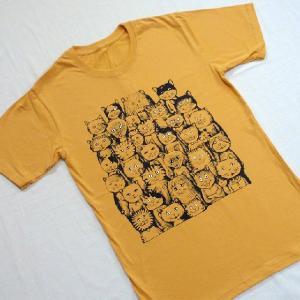 ニャンコTシャツ ネコがいっぱいのかわいいデザインが女の子に人気!「ニャンコまみれ」 ナチュラルなデザインTシャツ|neigh|05