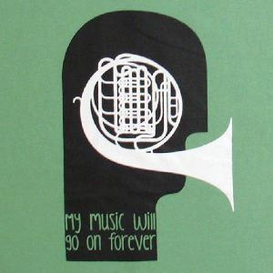 音楽Tシャツ 歌うのが大好きな人にオススメしたい「MY MUSIC WILL GO ON FOREVER(私の音楽は永遠に)」 ナチュラルデザインTシャツ|neigh