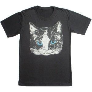 ニャンコTシャツ ネコがにっこりとほほえむかわいいデザインが女の子に人気!「白黒ニャンコ」 ナチュラルなデザインTシャツ|neigh|02