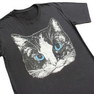 ニャンコTシャツ ネコがにっこりとほほえむかわいいデザインが女の子に人気!「白黒ニャンコ」 ナチュラルなデザインTシャツ|neigh|05
