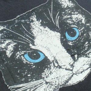 ニャンコTシャツ ネコがにっこりとほほえむかわいいデザインが女の子に人気!「白黒ニャンコ」 ナチュラルなデザインTシャツ|neigh|06