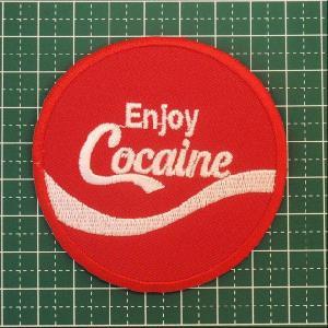 【定型郵便送料無料】人気のパロディーワッペンの中でも大定番「Enjoy Cocaine(エンジョイ・コカイン)」|neigh