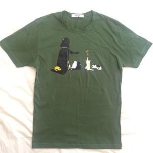 デザインTシャツ スターウォーズの隠れたエピソード! ネコにやさしいベイダー卿!|neigh|03