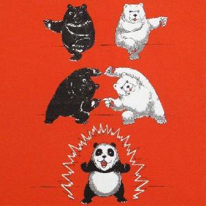 デザインTシャツ シロクマと黒クマがフュージョンしたらパンダに大変身!人気のドラゴンボールパロディーTシャツ!|neigh