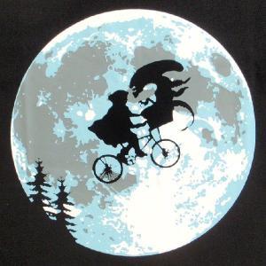パロディーTシャツ E.T.の感動のシーン...あ、あれっ!?「E.T.もエイリアン」このシチュエーションはエリオットが危ない!|neigh