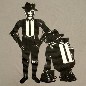 パロディーTシャツ スターウォーズの名コンビがブルースブラザーズ!?「ドロイドブラザーズ」R2D2とC3POの知られざる一面!|neigh