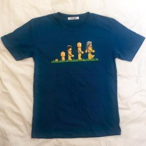 デザインTシャツ レゴの人間で表現したダーウィンの進化論Tシャツ!レゴ好きにはたまらないパロディーT!|neigh|02