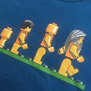 デザインTシャツ レゴの人間で表現したダーウィンの進化論Tシャツ!レゴ好きにはたまらないパロディーT!|neigh|03