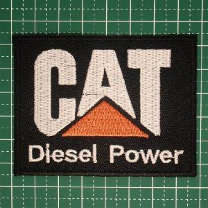 人気の企業ロゴワッペン「CAT(Caterpillar)」建設好きな方にオススメ!アイロンワッペン 定型郵便送料無料 neigh