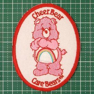 お子様の入学バッグに! 人気のケアベアのアイロンワッペンはキュートすぎ!「Care Bear(Cheer Bear)」 定型郵便送料無料|neigh