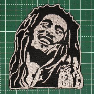 アイロンワッペン レゲエ界の不世出のカリスマ!「Bob Marley(ボブ・マーリィ)」 定型郵便送料無料|neigh