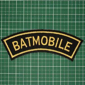 付けるだけでバットマン気分のアイロンワッペン「BAT MOBILE(バットモービル)」ダークナイト好きに人気!定型郵便送料無料|neigh