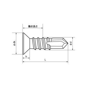 ピアス皿(小頭D=6・D=8)  4 X 13 鉄 三価ホワイト 【1,000本】 nejikuru 03
