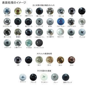 ピアス皿(小頭D=6・D=8)  4 X 13 鉄 三価ホワイト 【1,000本】 nejikuru 04