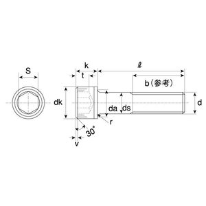 キャップボルト(細目 生地(または標準) 鉄  22 X 180 P=1.5【パック商品1本入】|nejikuru|03