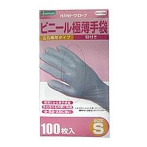 オカモト ビニール極薄手袋(粉無Lサイズ100イリ 【1個】|nejikuru