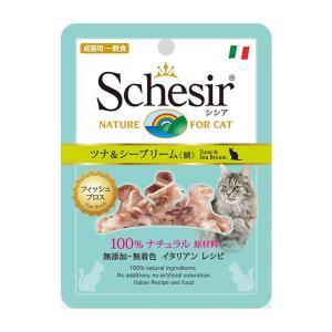シシア パウチ フィッシュブロス ツナ&シーブリーム 70g 正規品 キャットフード 一般食|nekobatake