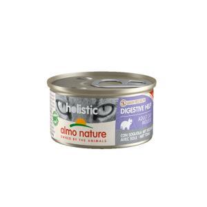 アルモネイチャー ファンクショナル 消化サポート 舌平目 缶 85g / 猫用缶詰 総合栄養食|nekobatake