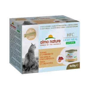 アルモネイチャー HFC ナチュラルライトミール まぐろとえび 50g×4 / 猫用缶詰 一般食|nekobatake
