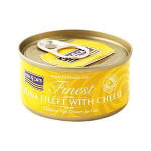 フィッシュ4キャット キャット缶 ツナ&チーズ 70g 正規品 キャットフード 一般食|nekobatake