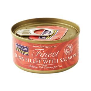 フィッシュ4キャット キャット缶 ツナ&サーモン 70g 正規品 キャットフード 一般食|nekobatake