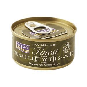 フィッシュ4キャット キャット缶 ツナ&海藻 70g 正規品 キャットフード 一般食|nekobatake