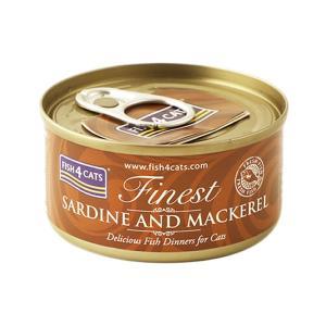 フィッシュ4キャット キャット缶 イワシ&サバ 70g 正規品 キャットフード 一般食|nekobatake