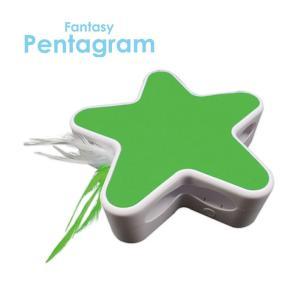 ファンタジー ペンタグラム グリーン / 猫用玩具 電池式 nekobatake