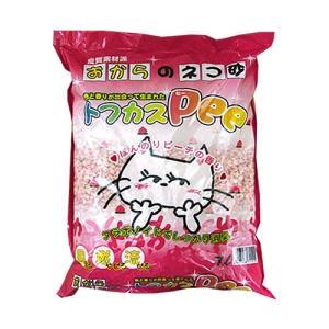 トフカス Pee(ピー) 7L 猫砂 おから ピーチの香り 固まる 流せる|nekobatake