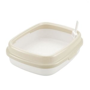 コロル ネコトイレ55 ベージュ 猫用トイレ 本体 トレイ リッチェルの画像