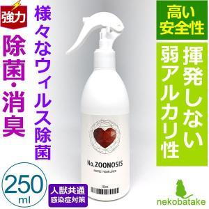 ノーズーノーシス 250ml / No.ZOONOSIS 除菌 消臭 無香 弱アルカリ性|nekobatake