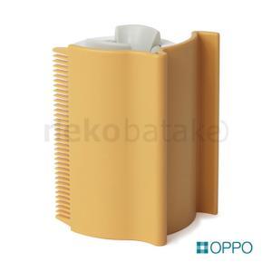 OPPO Groomo [グルーモ] オレンジブラウン 猫用品 ケアブラシ ローラー テラモト|nekobatake
