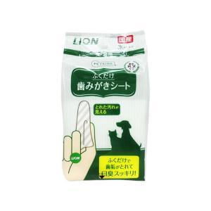 LION ペットキッス 歯みがきシート 30枚入り / 猫用品 デンタルケア シート|nekobatake