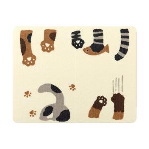 SANKO おくだけ吸着ペット用ランチョンマット 猫柄 / 猫用品 食事用 サンコー|nekobatake