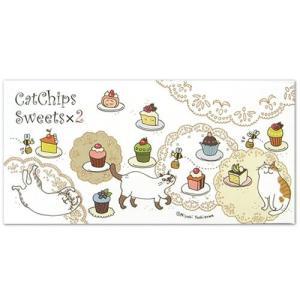 Cat Chips スイーツ×2 一筆箋 のあぷらす 猫雑貨 ステーショナリー|nekobatake
