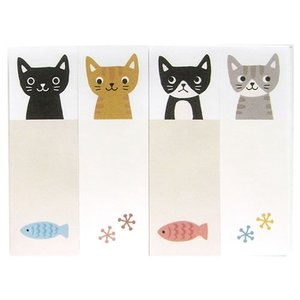 なごみ スティックメモ ねこねこ のあぷらす 正規品 猫雑貨 ステーショナリー|nekobatake