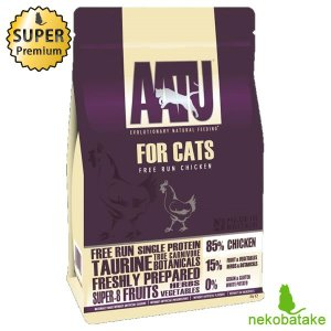 アートゥー (AATU) キャット ドライ チキン 1kg 正規品 キャットフード 総合栄養食|nekobatake