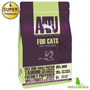 アートゥー (AATU) キャット ドライ ダック 1kg 正規品 キャットフード 総合栄養食|nekobatake