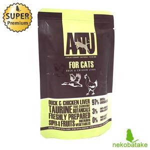 アートゥー (AATU) キャット ウェット ダック&チキン・レバー 85g キャットフード 総合栄養食 グレインフリー|nekobatake