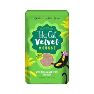 ティキキャット ベルベット マグロ&サバ 80g / TikiCat 猫用パウチ 総合栄養食|nekobatake