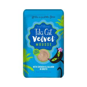 ティキキャット ベルベット チキン&サーモン 80g / TikiCat 猫用パウチ 総合栄養食|nekobatake