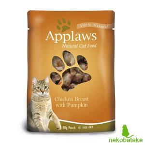 アプローズ キャット パウチ ブイヨン 鶏の胸肉とかぼちゃ 70g / 猫用ウェット 一般食|nekobatake
