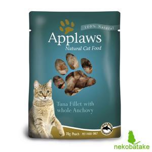 アプローズ キャット パウチ ブイヨン ツナのフィレとアンチョビ 70g / 猫用ウェット 一般食|nekobatake