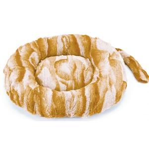 マルカン にゃんこのほっこりまんまるベッド しっぽ付き ツンデレ猫用 猫用ベッド 秋冬 円形|nekobatake