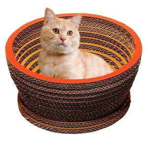 ニャンダフル・キャットハウス 「ボウル」 / 猫用 ファニチャー キャットハウス ECOでおしゃれなデザインの日本製 ダンボール|nekodan